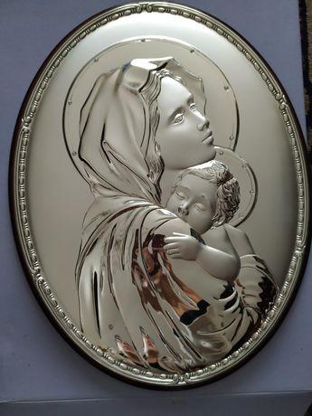 Quadro em prata Mãe de Jesus
