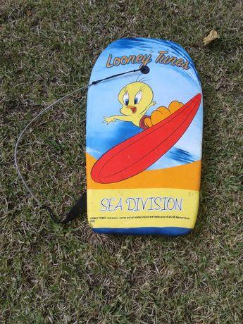 "Prancha Bodyboard para Criança ""Looney Tunes""."