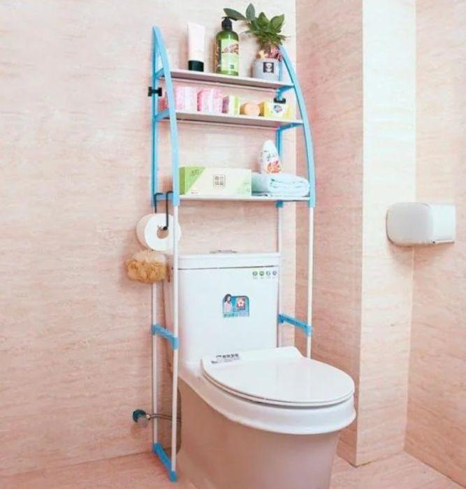 Стеллаж над унитазом этажерка напольная органайзер для туалета WM-64 Г Харьков - изображение 1