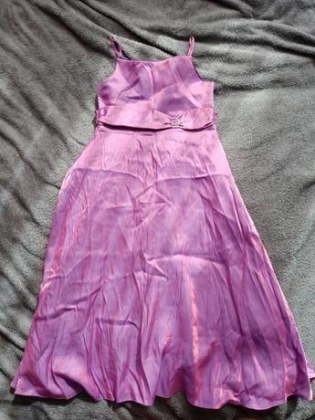 Długa sukienka dla dziewczynki r. 134