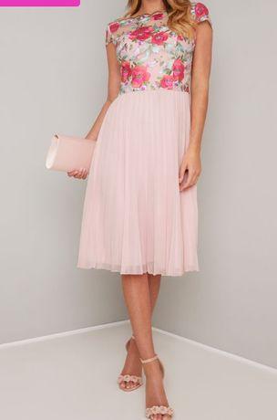Chi chi london plisowana sukienka w kwiaty 40