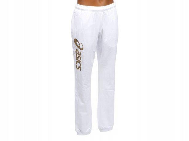 Asics Spodnie Dziecięce Dresowe Biel / Białe 140cm
