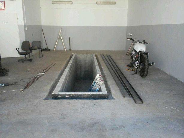 betonowy kanał samochodowy, kanał warsztatowy, 4m, 6m