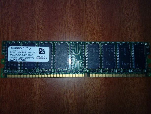 256MB Swissbit DDR-400MHz PC3200 SDU03264B5B71MT-50 (DDR 1)