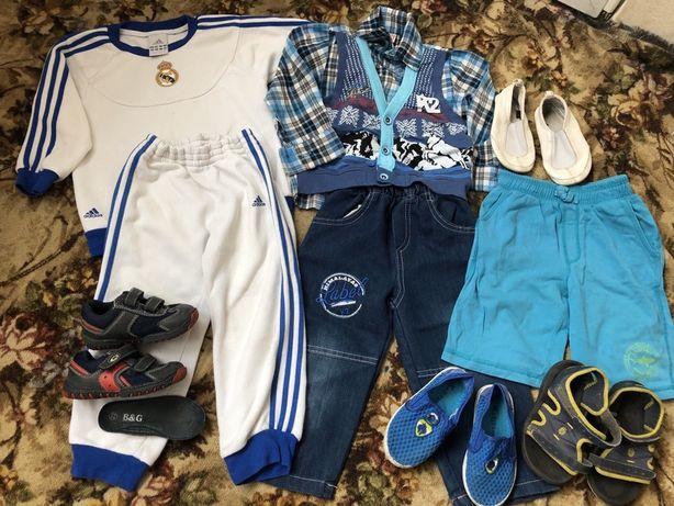 Пакет вещей и обуви