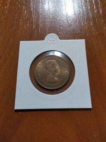 Moneta Wielka Brytania 1/2 pensa 1967r.