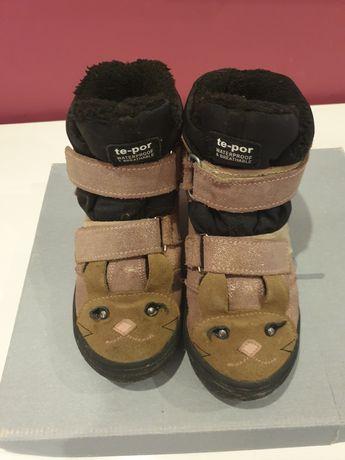 Buty zimowe Mrugała 33 dziewczęce królik brokat różowe