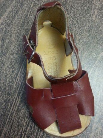Кожаные сандали, сандалии,босоножки СССР ортопедические стелька 11.5
