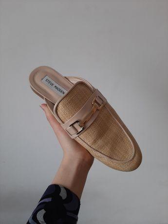 Slomiane klapki loafersy steve madden