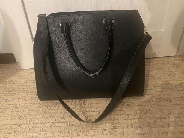 Torba H&M duża czarna torebka