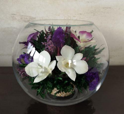 Kompozycja kwiatowa w kuli