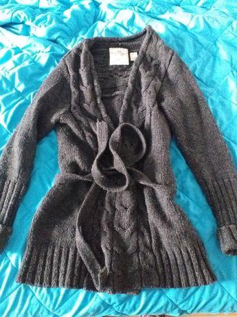 Super sweter ciepły długi h&m