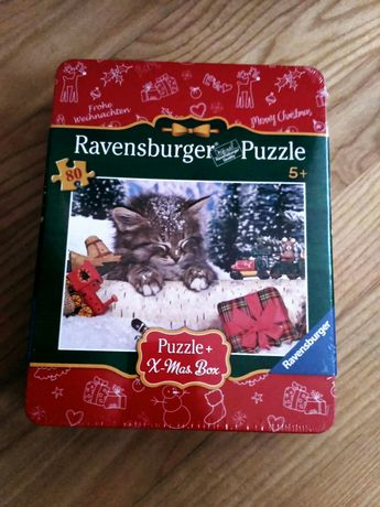 15zł  NOWE Ravensburger Puzzle 5+ z kotkiem dla dzieci