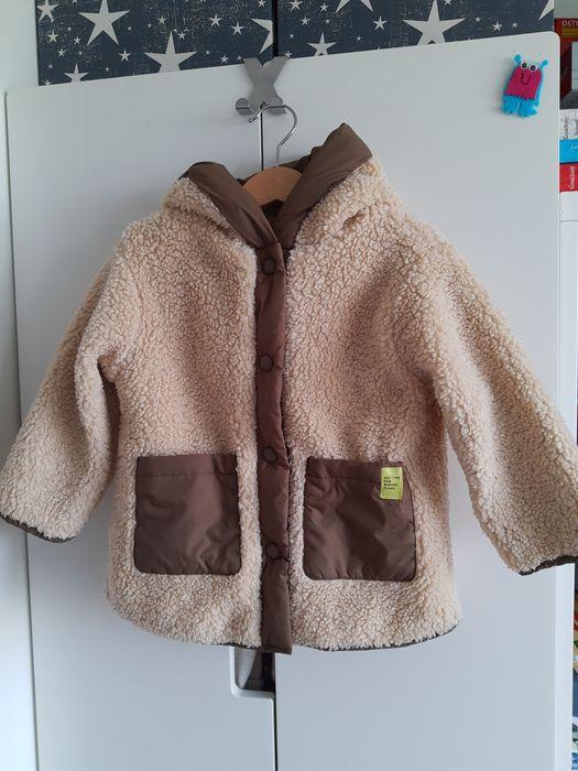 Dwustronny płaszczyk zimowy Zara 98 Sosnowiec - image 1