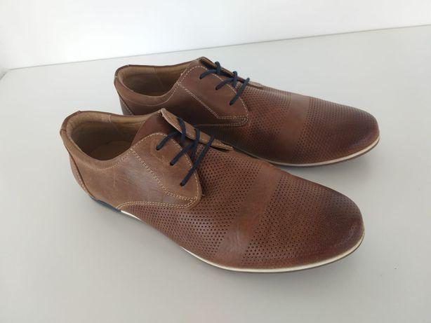 Buty męskie skórzane Wojas w rozmiarze 42
