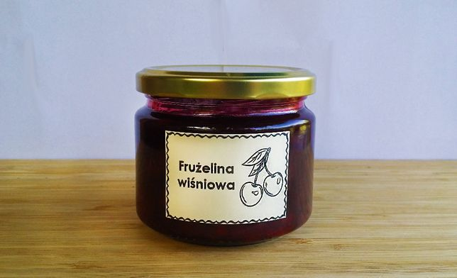 Frużelina wiśniowa 100 % naturalna ekologiczna 330 ml