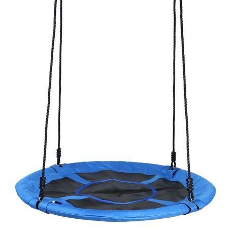 okrągła pełna Huśtawka ogrodowa bocianie gniazdo dla dzieci 110 cm