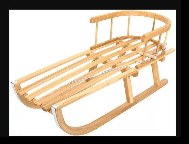 SANKI bukowe drewniane ze sznurkiem