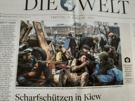 Газета німецькою мовою Die Welt, 14 лютого 2014