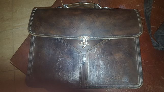 Aktówka torba skórzana niemiecka vintage