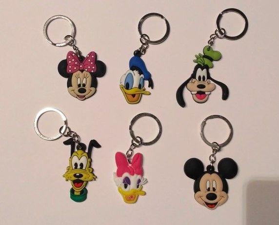 Porta-chaves da Disney Mickey Minnie Margarida Pluto em silicone