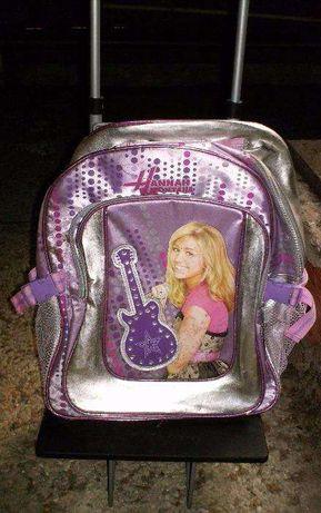 Mochila - trolley Hannah Montana com rodas