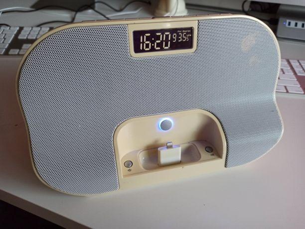 TCM - Stacja dokująca APPLE z głośnikiem stereo + radio + budzik