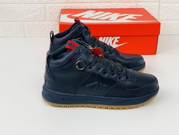 Nike air max зима кроссовки мужские кожаные demax air кросовки кросівк