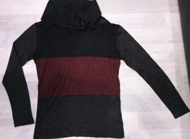 Тёплый стильный свитер с воротом/лонгслив, размер идёт на M-L/48-50