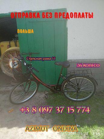 """Городской велосипед Azimut Ondina 26"""" Черно - Красный"""