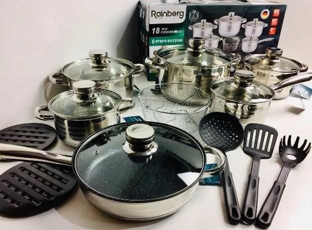 Столовая посуда, кастрюли набор 18ед / посуда, набор Реинберг /
