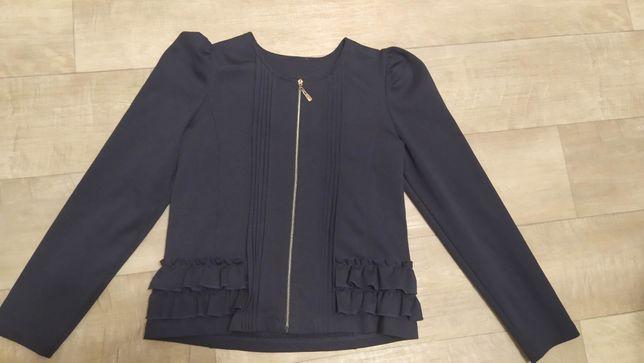 Трикотажный пиджак девочке р.152
