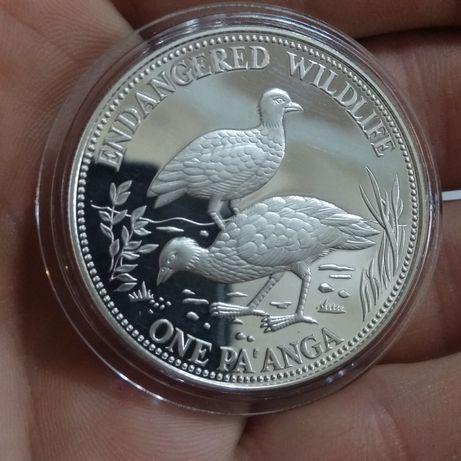 Тонга 1 панга 1991, вымирающие виды, серебро 925 - 31,4 грамм срібло