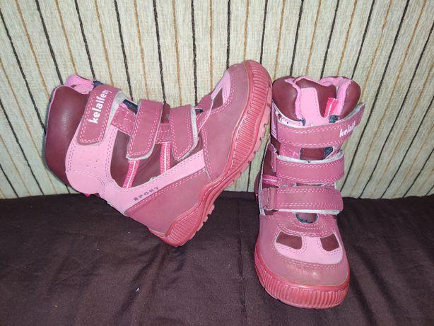 Зимнее ботинки для девочки. Размер 28.