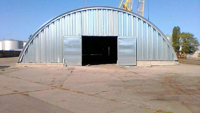 Ангари безкаркасні аркові. Зерносховища, склади, арочні перекриття