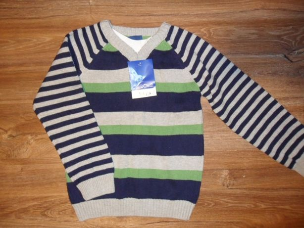 Cherokee Sweter Dla Chłopca W Paski Rozm 116cm (5-6 lat) Nowy z Metką