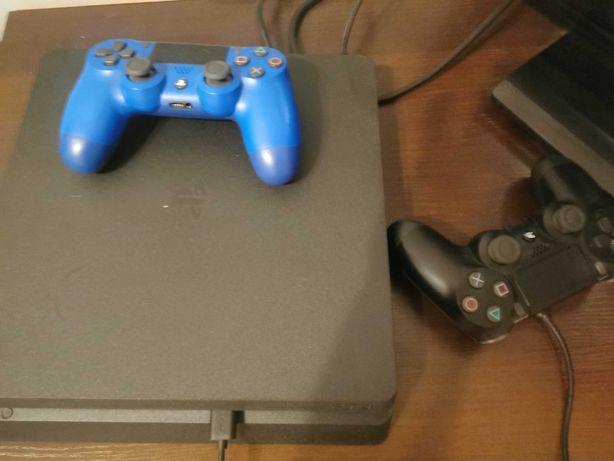 PlayStation 4 slim 500gb +2pady + 2 gry