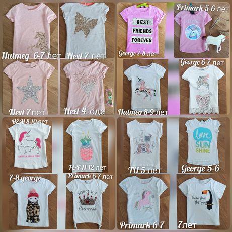 Вещи на девочек от 2 до 12 лет футболки юбки шорты