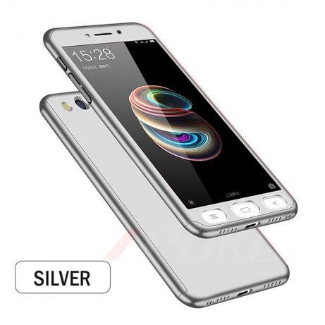 Etui case xiaomi note 5A srebrne 360 nowe szkło