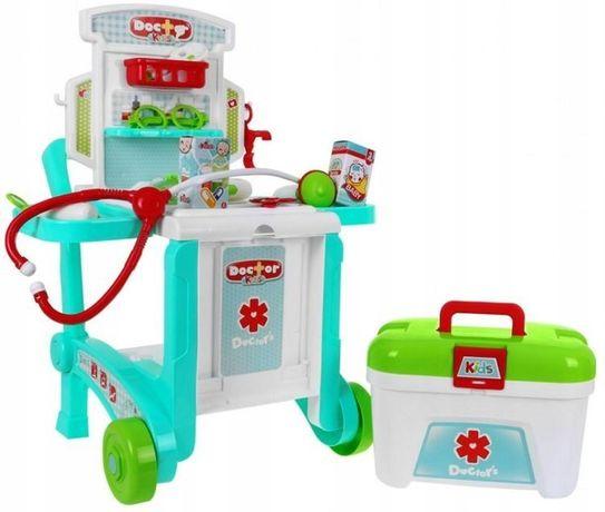 Zestaw Lekarski Wózek Akcesoria Lekarz Mały Doktor