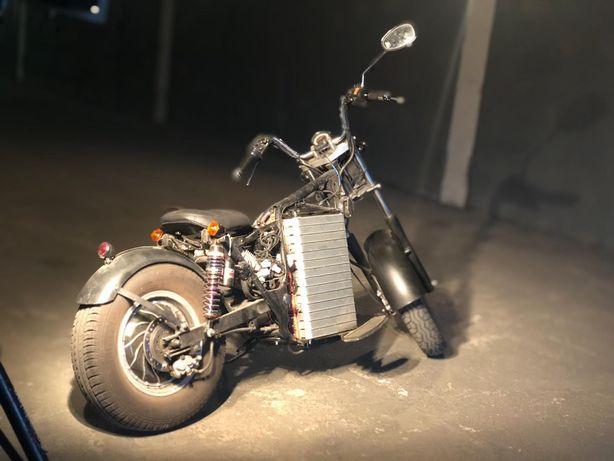 Кастомный электромотоцикл боббер 160км\ч, 110км запас хода