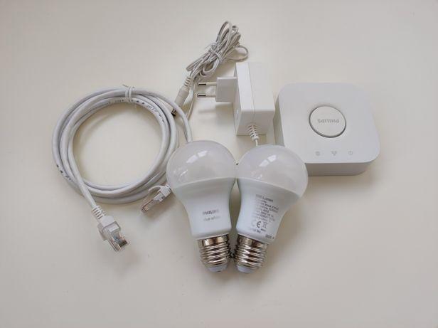 Philips Hue Kit: 2 Lâmpadas Inteligentes LED E27 9W + Ponte