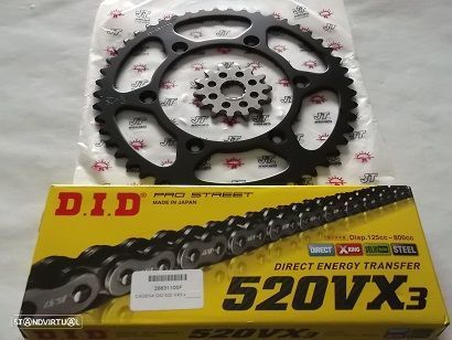 Kit Transmissao corr.DID X-Ring Yamaha YZ 450 F, WR 450 F de 2010 a 2019