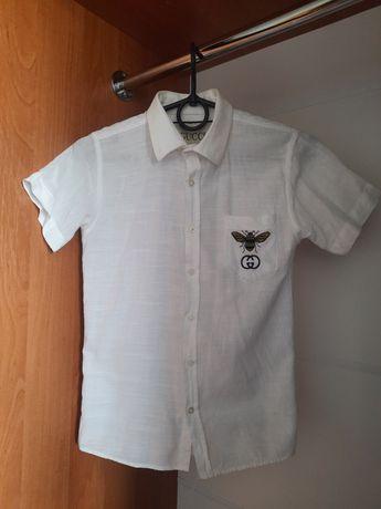 Школьная рубашка с коротким рукавом на мальчика в ИДЕАЛЬНОМ СОСТОЯНИИ
