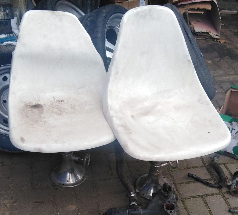 fotele krzesla z nogami motorówka łódź jacht 2 sztuki motorowka Siedlce - image 1