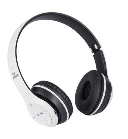 Słuchawki bezprzewodowe bluetooth nauszne z mikrofonem