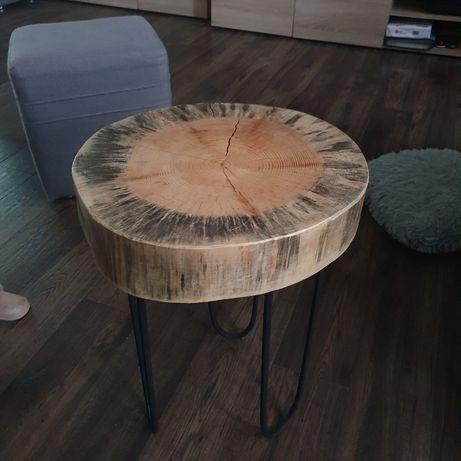 Stolik kawowy z pnia drzewa