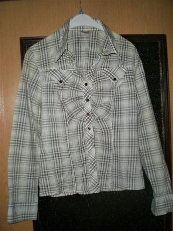 Школьная,форменная,клетчатая блузка - рубашка пог 44.ELLY фирм