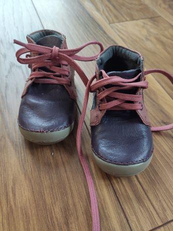 Skórzane buciki roz 18