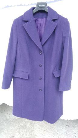 Płaszcz damski - fioletowy